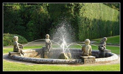 statue garden fountain