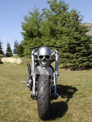 scary motorbike on road