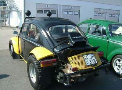 volkwagen beetle modiefied into sporty 4 wheel drive car