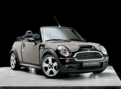 changing mini cooper body with beautiful designed mosaic