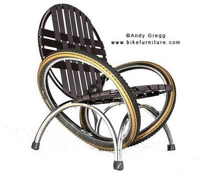chair made from bicycle part