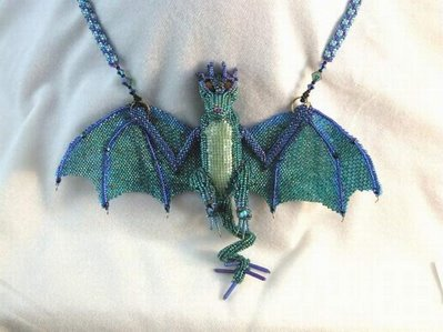 bead decoration art - dragon necklace