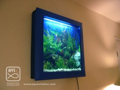 cool wall mounted aquarium