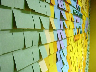 use post it to made an art