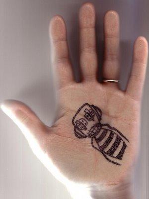 cartooning on palm