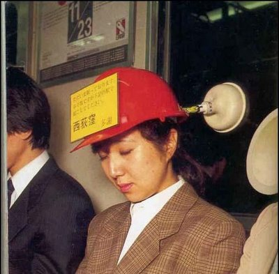 feel sleepy in train? use this cap to avoid slip