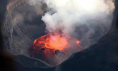 volcano pictures - a mountain formed by volcanic material
