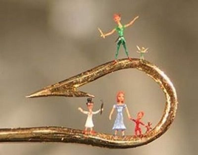 art of small thing - peter pan and friends around hook