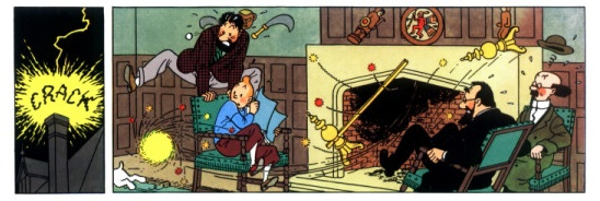 The Sudden Appearance Of A Ball Lightning Can Be Quite Frightening Herge Seven Crystal Balls In Tintin Adventure