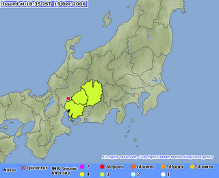 earthquake, gifu, 18h34, dec 19/06