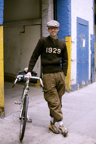 vintage bike man is back the sartorialist. Black Bedroom Furniture Sets. Home Design Ideas