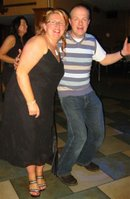 Dorathy trying to coax the hubby to go head to head with Seamus on the dance floor