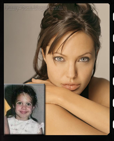 Funny town celebrities as kids