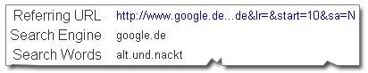 alt und nackt - Suchanfrage via Google