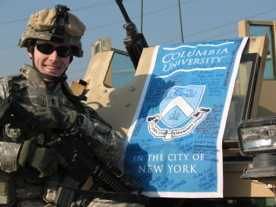 Josh Arthur CC04 Columbia banner Baghdad 1