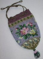 antique beaded reticule