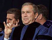 george w bush devil's horns