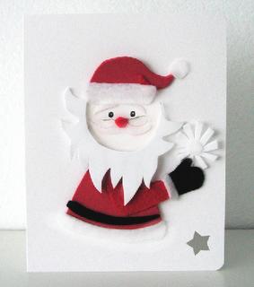 snowflake santa claus card