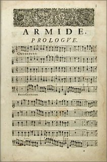 Jean-Baptiste Lully (1632 - 1687): Armide. Tragdie / mise en musique par Monsieur De Lully