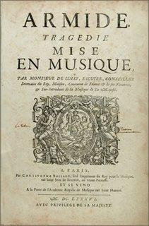 Jean-Baptiste Lully (1632 - 1687): Armide. Tragédie / mise en musique par Monsieur De Lully