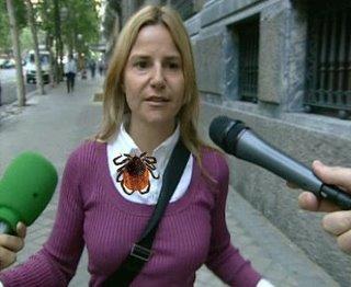 Eugenia Martínez de Irujo y la garrapata (recreación digital)