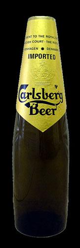Carlsberg garrafa castanha