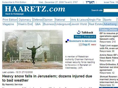 Haaretz is a Palestinian newspaper?
