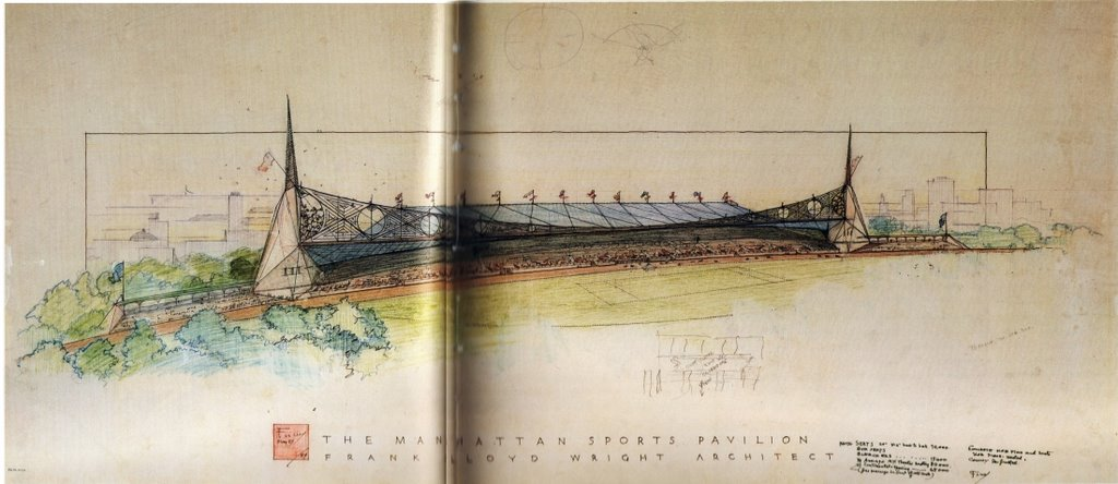 Not Pc Manhattan Sports Stadium Frank Lloyd Wright