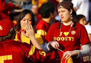 For Mrs. Poop and others, the USC quarterback to whom this chick is declaring affection, is named John David Booty