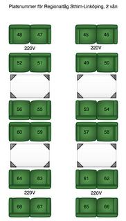 Plats-skiss för andra våningen av de nya regionaltågen
