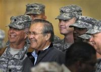 Don Rumsfeld, and the troops