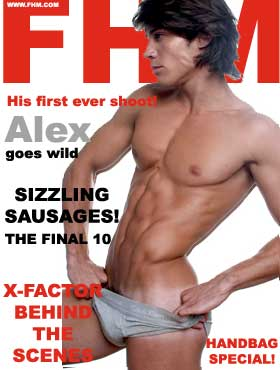 lads mags fhm alex goes wild sizzling sausages