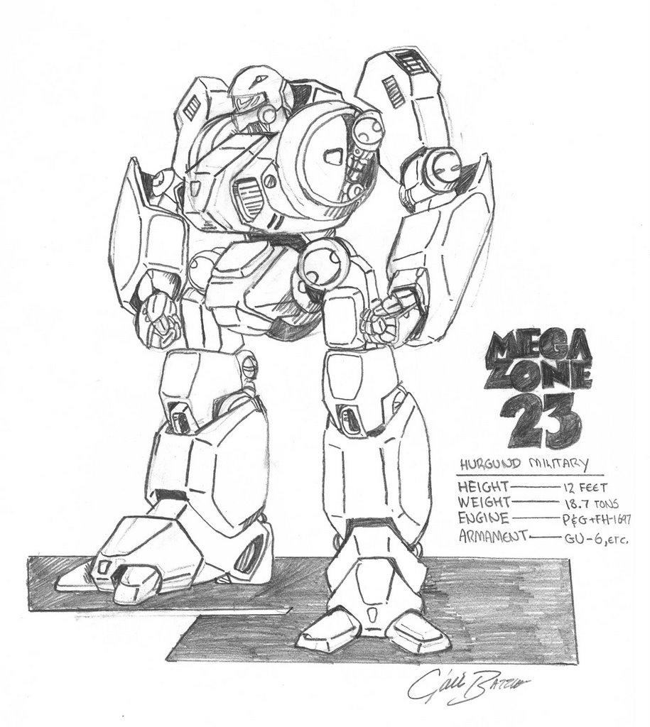 How to draw anime robot girl