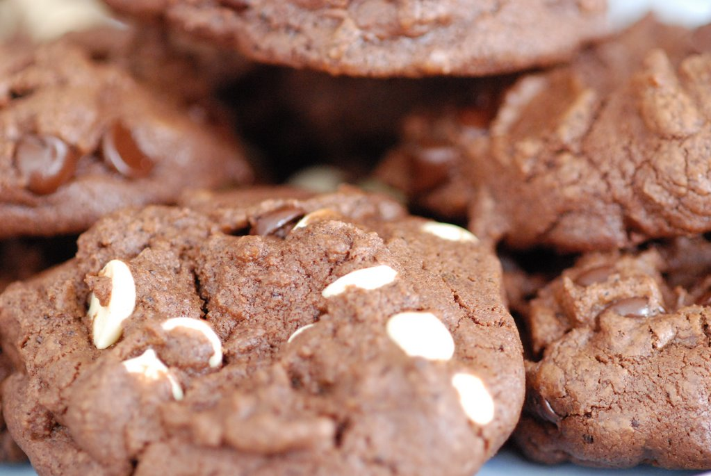 Spoonful: Double chocolate espresso cookies - thick and chewy
