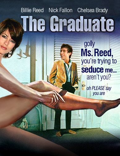 Salem Cinema Movie Poster Parodies The Graduate Starring Billie Reed Nick Fallon