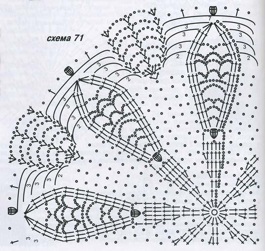 крючком схемы вязания