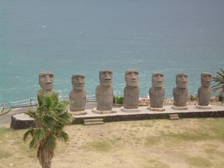 Moai statues at Sun Messe, Nichinan, Miyazaki Prefecture