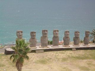 Moai statues at Sun Messe, Nichinan, Miyazaki Prefecture