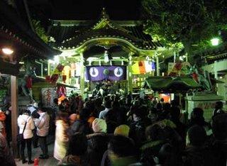 Inside Toyokawa Inari, Akasaka, Tokyo, New Year 2007.