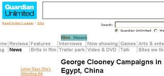 Screenshot of Guardian Unlimited: Film: News