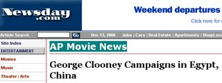 Screenshot of Newsday.com: AP Movie News