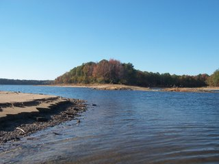 The water, though low, added to the beauty of the lake in autumn.