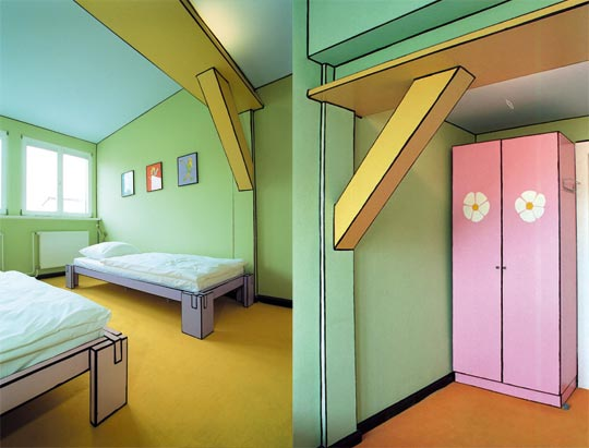The design llama the cartoon room
