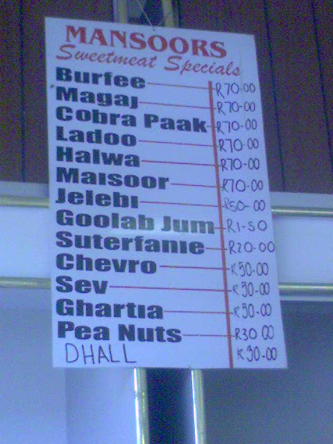 Indo Pak Cafe Arlington Menu