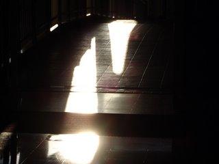 Sun Reflection on Terracotta Floor