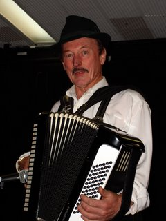 Musician on his accordion