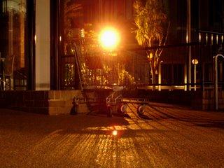 Night light through a shopping trolley