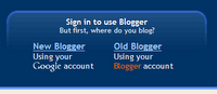 Login to the new Blogger