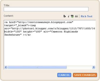 Blogger Beta: Configure HTML/Javascript