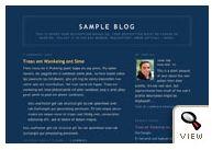 Blogger classic Minima Blue template